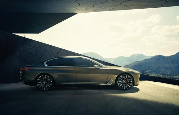BMW's Future Vision Luxury concept car is widely believed to be a preview of the 2016 BMW 9 Series, a new high-end sedan.