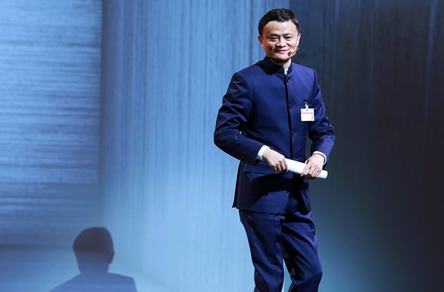 Jack Ma, the founder of Chinese eCommerce giant Alibaba delivers a speech during the opening ceremony of CeBIT 2015 in Hanover, Germany, on March 15, 2015. Top IT business fair CeBIT 2015, which features a strong Chinese presence, kicked off on Sunday in Germany. (Xinhua/Luo Huanhuan)