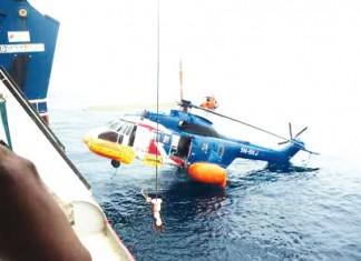 A scene of aircraft rescue Photo: SaharaReporters