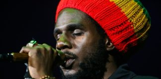 AFP / Gabrielle Lurie Jamaican Reggae musician Chronixx performs at the Bill Graham Civic Auditorium, in San Francisco, California on April 20, 2016