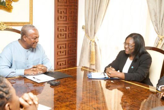 Mrs Patience Akyianu And President Mahama