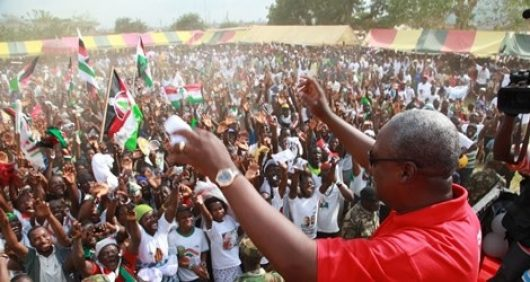 President John Dramani Mahama And Ndc Supporters