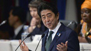 Shinzo Abe is visiting three nations in Africa