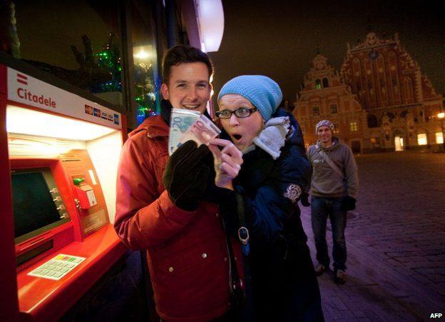 People Withdrew Euros
