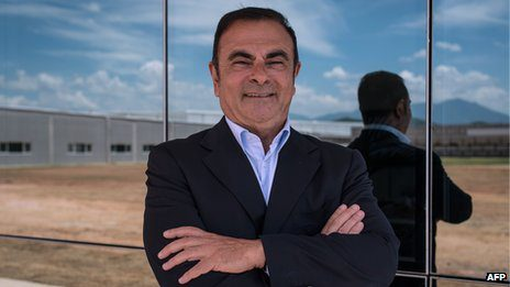 Nissan chief executive Carlos Ghosn also heads French carmaker Renault