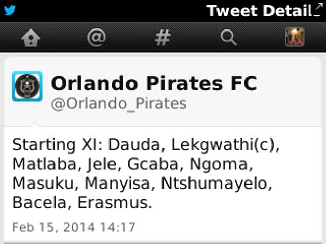 Fatawu Dauda in starting XI