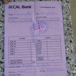 copies of receipts on transactions