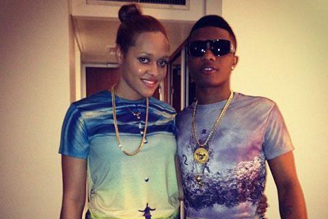Tania Omotayo and Wizkid