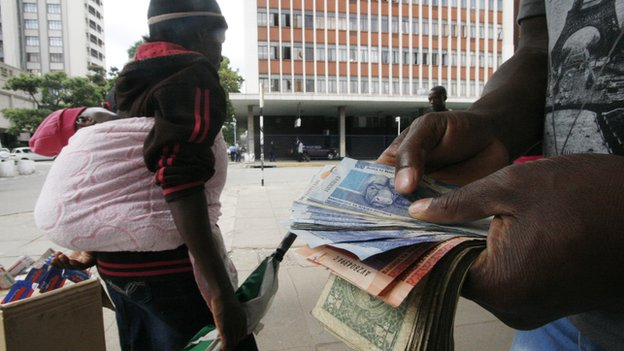 Zimbabwe's economy is fragile and it does not have its own currency