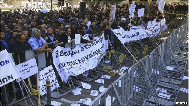 Cyprus's deal with the EU and IMF provoked anger among Cypriots