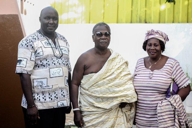 Mr. Fred Nyakagwa Osoro and Chief of Atukpai, Nii Tetteh Tsuru
