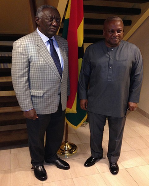 Former President John Agyakum Kufuor and President John Dramani Mahama