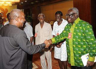 President John Mahama and Mr Kwasi Adu Amankwah