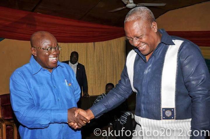 Nana Akufo-Addo and President John Mahama