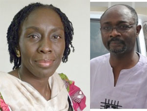 Marietta Brew Appiah-Oppong and Alfred Woyome
