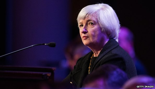 US Federal Reserve chair Janet Yellen has said the bank remains committed to supporting the US economy