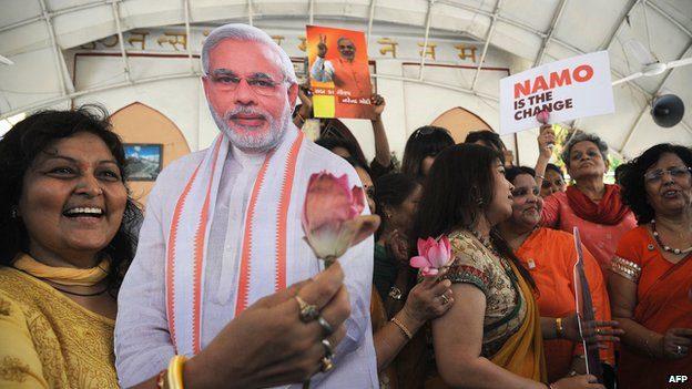 India's stock market has rallied on the prospect of opposition leader Narendra Modi winning office