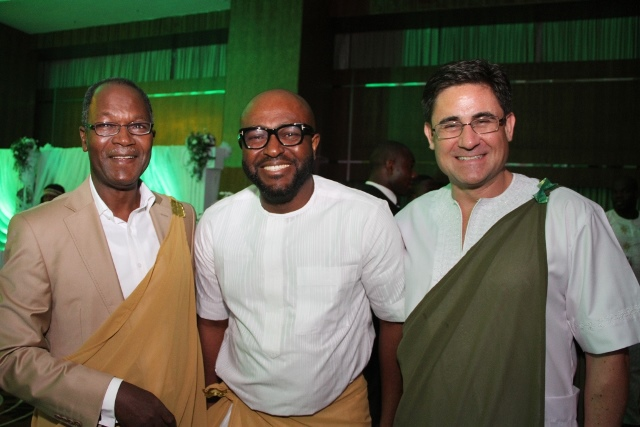 Director Security, Etisalat Nigeria, Muhammad Abubakar; Head, Sales Support, Etisalat, Victor Nwaobia and Acting CEO, Etisalat Nigeria, Matthew Willsher