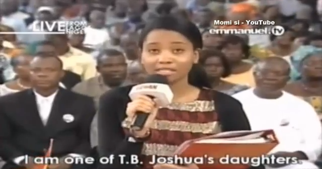 Student Giving Testimony at TB Joshua's Church
