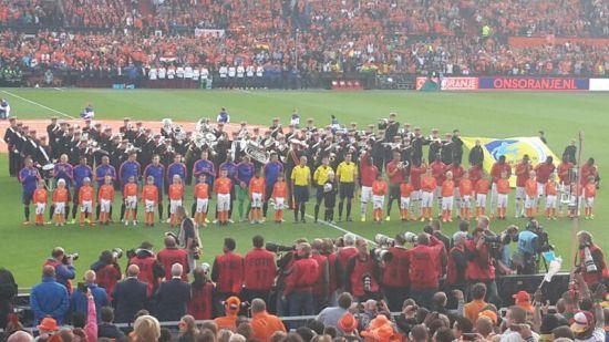 The Netherlands facing Ghana in an international friendly in Rotterdam