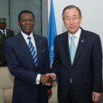 Equatorial Guinea?s President, Obiang Nguema Mbasogo, with U.N. Secretary-General Ban Ki-moon