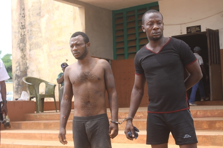 Chibuzo Ugwummadu and Ifeanyi Eneke from Oba who kidnapped a transport magnet 2nd TARZAN Motors and murdered one Nzube the informant who swindled them of the N5m ransom claimed on their behalf.