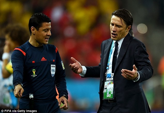 Croatia coach Niko Kovac launched a broadside at referee Yuichi Nishimura after his side lost 3-1 to Brazil in the World Cup opener.