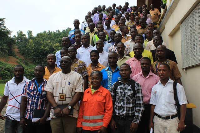 Mr Awuku and the new graduates