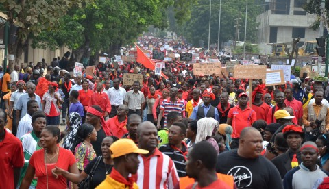 Workers demo