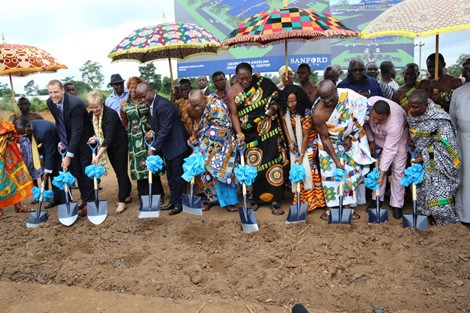 The Sod cutting ceremony for the medical facility