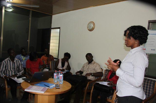 Mrs Beauty Emefah Nartey, Communication Officer, GACC addressing the forum