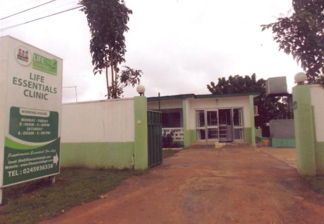 Picture shows the premises of the Life Essentials Clinic at Petroleum Estate near New Achimota