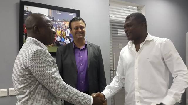 Ayarigah and Desailly at the Lizzy's Sports Complex