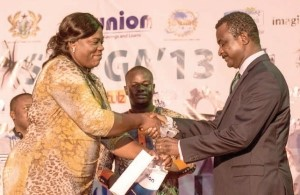 Mrs Martha Osafo Oppong receiving the award from the Deputy Minister of Trade Mr Rickett-Hagan ?