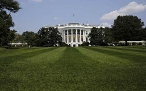 The South Lawn and the White House is pictured in Washington ?