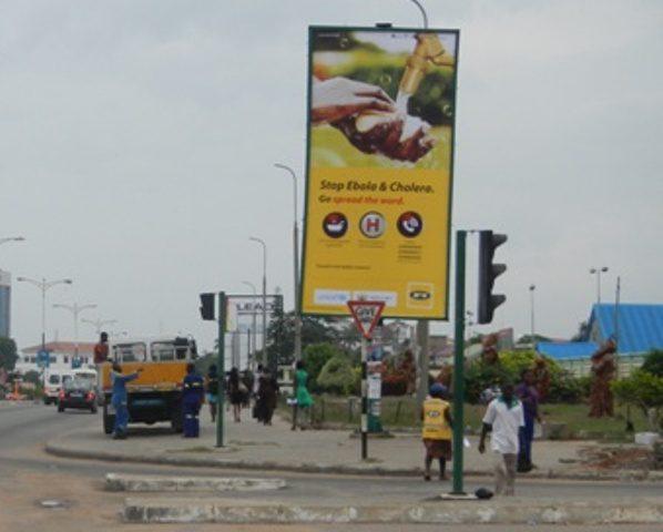 MTN Ebola billboard on Accra High Street