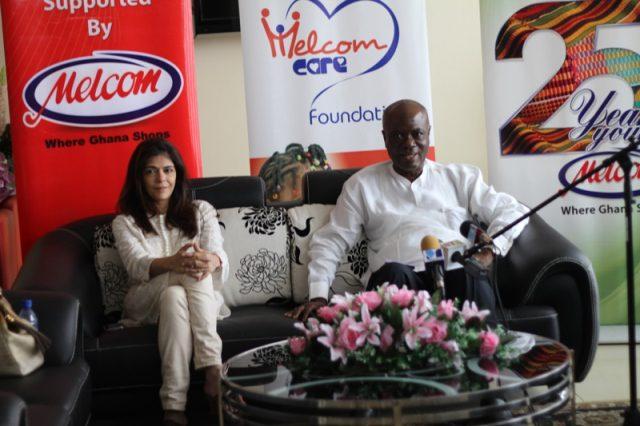 Mr Godwin Avenorgbo (right), Melcom Group Director of Communications