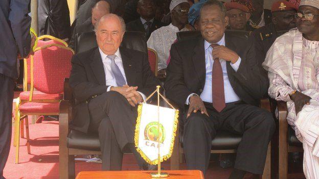 Sepp Blatter and Issa Hayatou