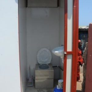 the locally made Biofil Toilet System