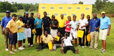 Winners of various categories of the tournament with MTN CEO