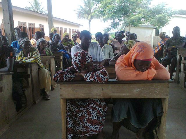 A cross-section of parents and guardians at the meeting