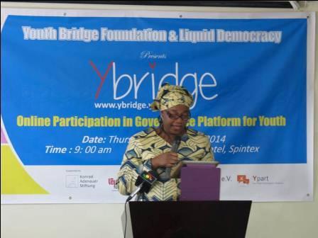 Mrs Sampson delivering the Minister's speech