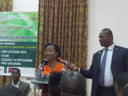 Dr Mrs Naadu Mills, Former First Lady, addressing the gathering.