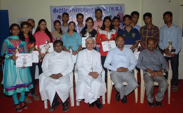 Awardees with Archbishop Bhopal