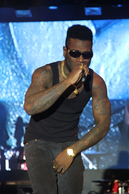 Raggae Dancehall artiste, Burna Boy; performing at the 2014 Inspiration FM Summer Concert, Co-Sponsored by Etisalat Nigeria which took place recently.