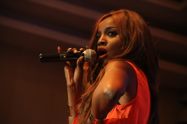 Hip-hop/R&B artiste, Seyi Shay; performing at the 2014 Inspiration FM Summer Concert, Co-Sponsored by Etisalat Nigeria which took place recently.