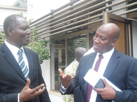 Mr Murtala Mohammed (right) in a discussion with Dr Essegbey