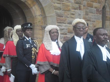 Lady Chief Justice Mrs Georgina Theodora Wood (3rd right) in a procession