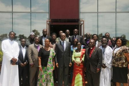 Vice President Amissah-Arthur in a group photograph with religious leaders.