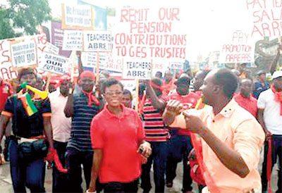 Some teachers demonstrating